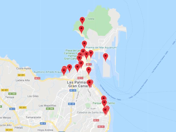 Las Palmasin kartta