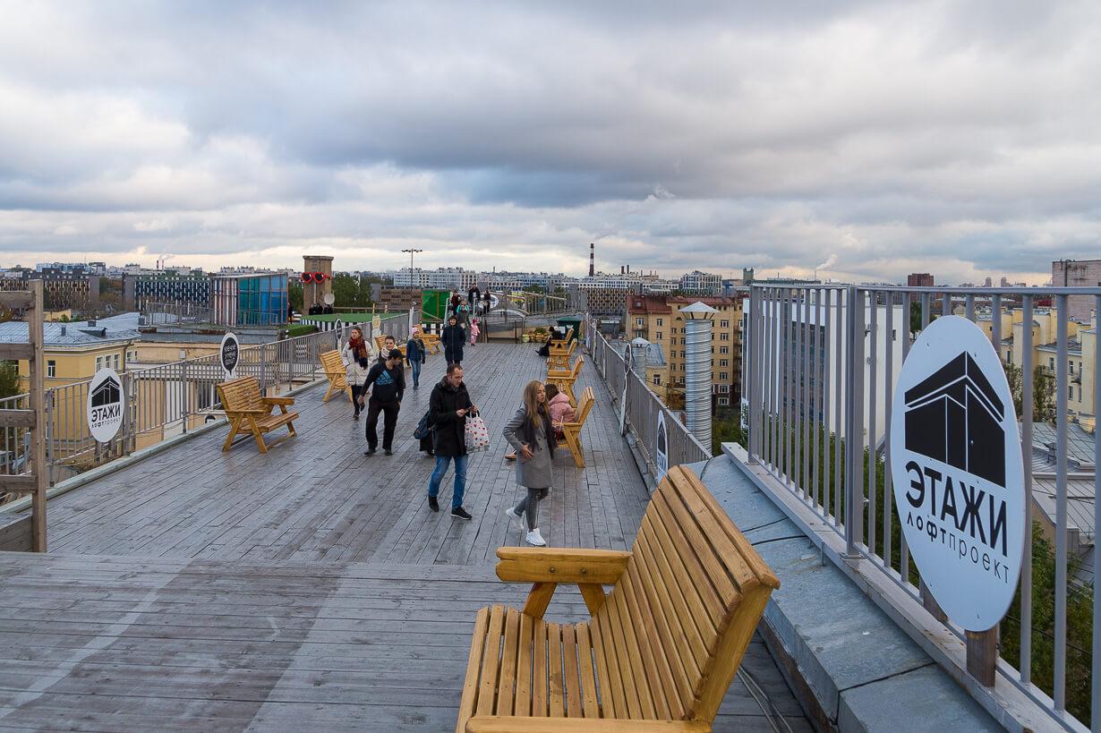 Loft Project Etagin kattoterassi Pietarissa