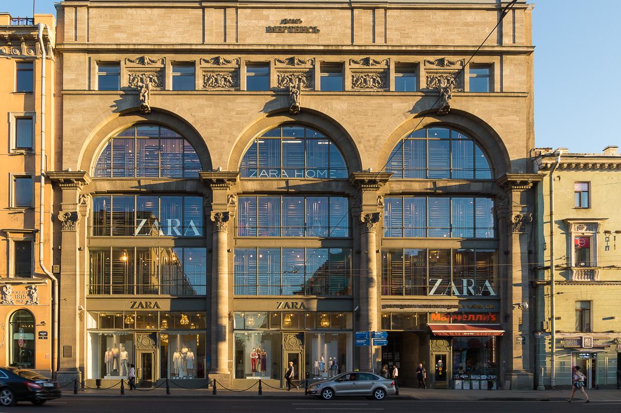 Pietarin Zara-päämyymälä